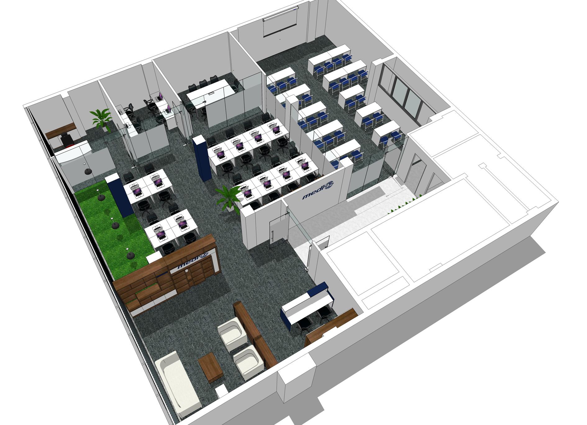 Thiết kế văn phòng cty MEDIAZ